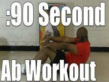 90 second ab workout