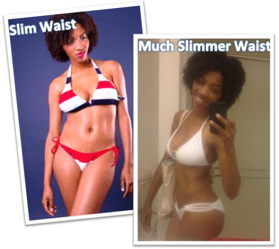 Alyson lost more belly fat for slimmer waist