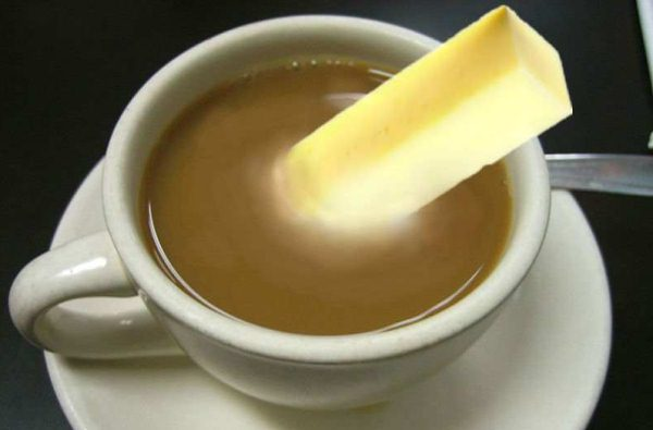 butter in coffee
