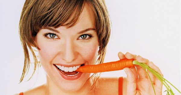 carrots white teeth
