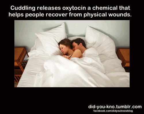 cuddle reduces soreness