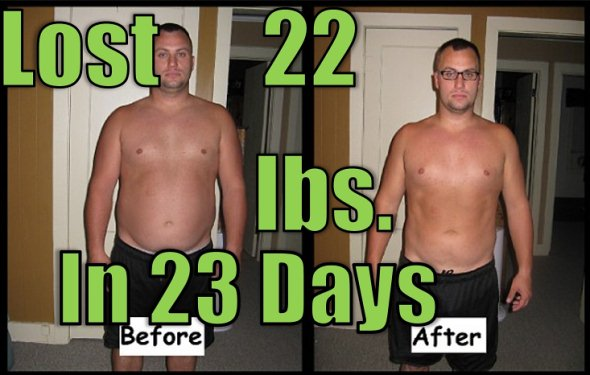 dale lost 22 pounds in 23 days