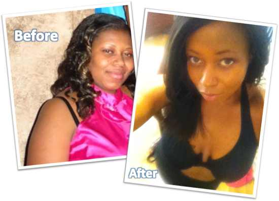 Ebonie lost 77 lbs. in 5 months