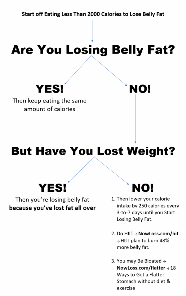 lose belly fat chart