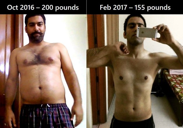 men lose love handles